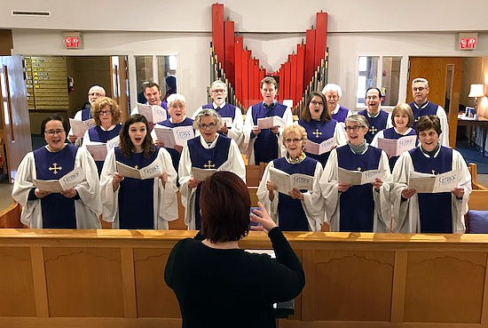Leah Milton and the St. Barnabas' Adult Choir - Facing